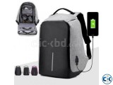 Anti theif USB Charging system Bag-Ash color
