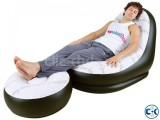 2 in 1 Air Chair and Footrest Sofa