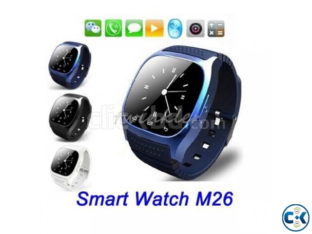 M26 Bluetooth Smart Mobile Watch Gear intact Box | ClickBD large image 1