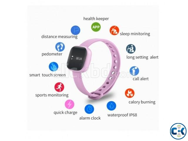 Newest V8 Smart Band Touch Screen Waterproof Smart Bracelet | ClickBD large image 2