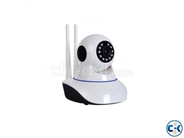 Wireless IP HD WiFi CCTV Camera - White Black | ClickBD large image 0