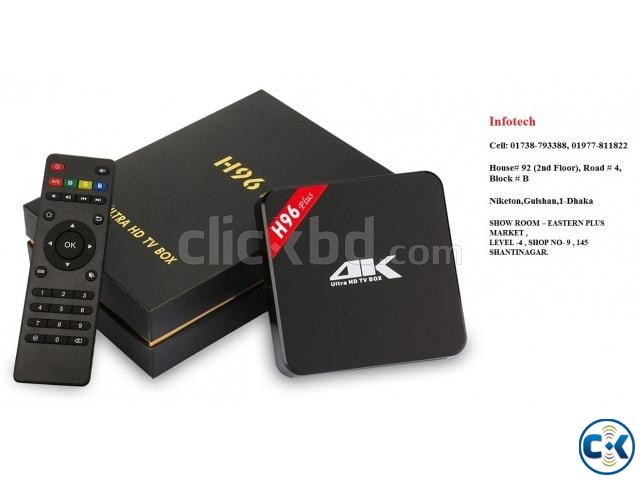 H96 PLUSS Android TV Box Octa-Core 3GB 32GB Android 6.0 5.8G | ClickBD large image 1