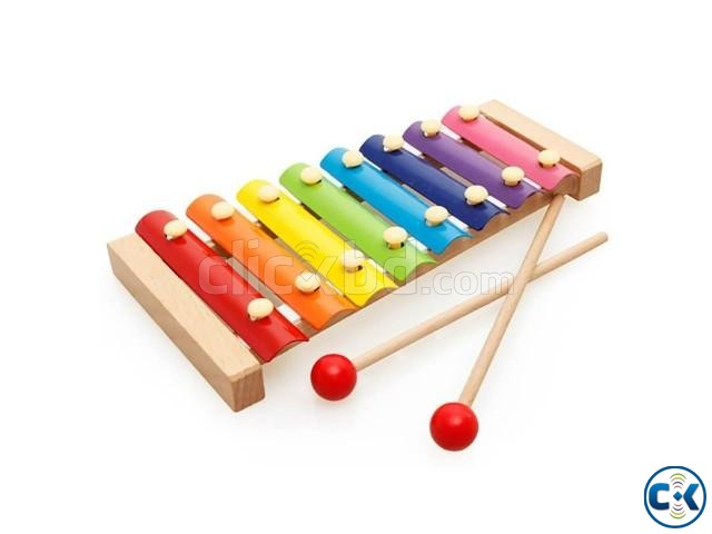Wooden Xylophone Hand Knock Piano Children Kids Toy Musical | ClickBD large image 0