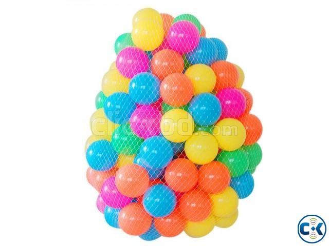 100pcs Plastic Water Pool Ocean Ball Baby Multi-Color | ClickBD large image 0
