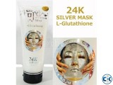 24K Silver Mask L Glutathione Cream White Facial Treatment