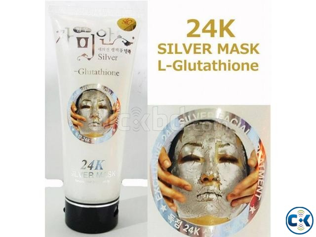 24K Silver Mask L Glutathione Cream White Facial Treatment | ClickBD large image 0