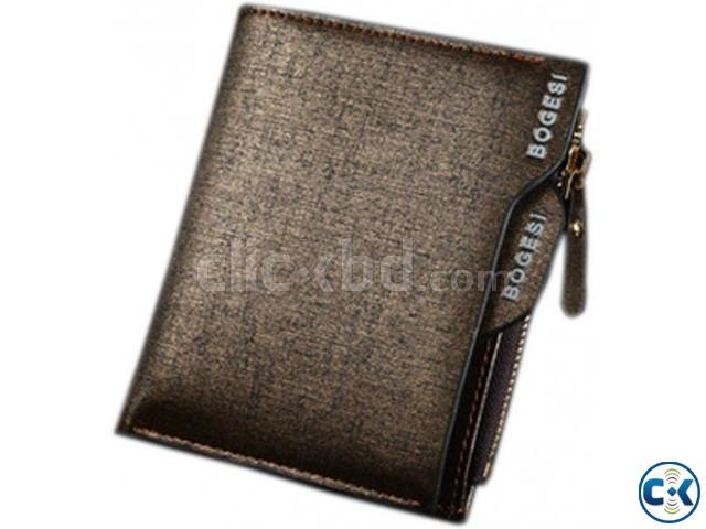 BOGESI Men Boys Gold Artificial Leather Wallet | ClickBD large image 0