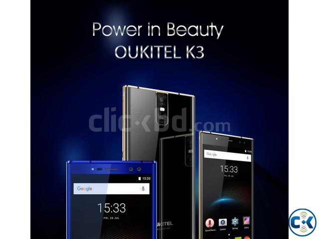 OUKITEL K3 5.5inch Android 7.0 4GB RAM 64 ROM PRE-ORDER | ClickBD large image 0