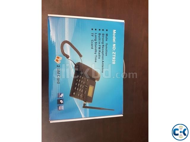 ZT920 Dual Sim With Voice Recorder land Phone intact Box | ClickBD large image 0