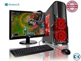 New Core i3 4GB 250GB 17 LED Gaming PC