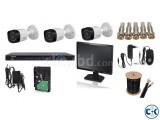 03 pcs CCTV Camera Full Setup
