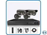 2pcs CCTV HD Camera package Full Night vision