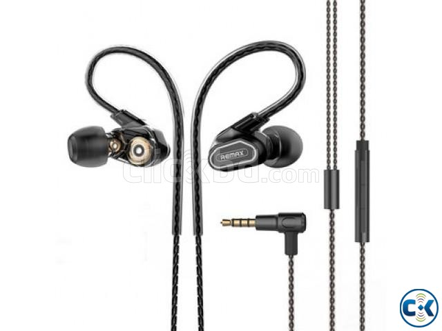 Remax RM-580 Dual Moving-Coli Dynamic Driver Earphone | ClickBD large image 0
