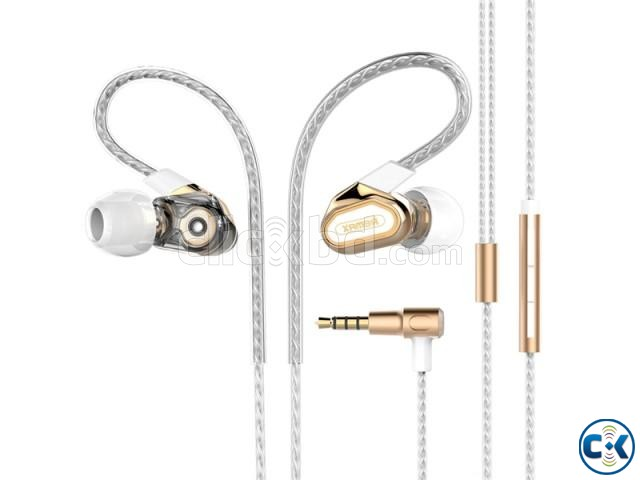 Remax RM-580 Dual Moving-Coli Dynamic Driver Earphone | ClickBD large image 2