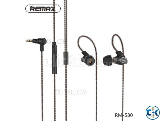 Remax RM-580 Dual Moving-Coli Dynamic Driver Earphone | ClickBD large image 3
