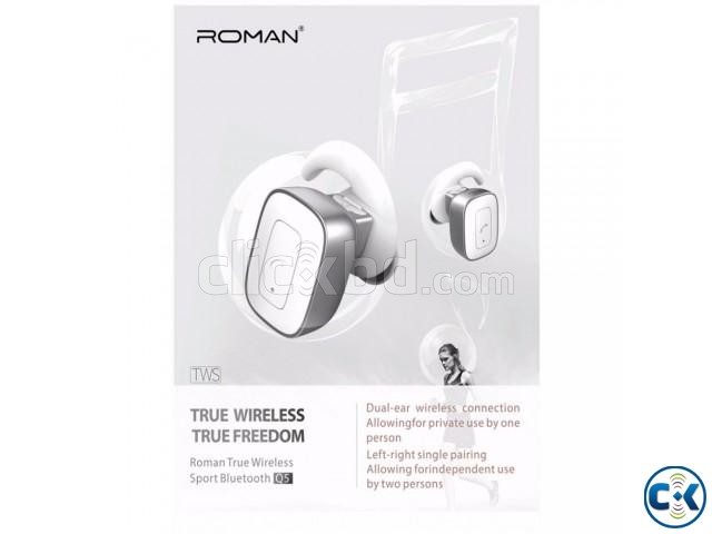 Roman Q5 True Wireless Bluetooth Dual Earbud Headphone | ClickBD large image 0