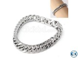Stainless Steel Silver Color Round Mens Bracelet-1pc
