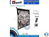 84 X 84 Electric Motorized Projector White Screen