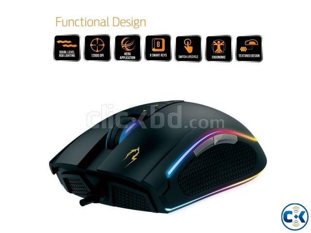 Gamdias ZEUS E1 Wired Optical Gaming Liighting Mouse | ClickBD large image 0