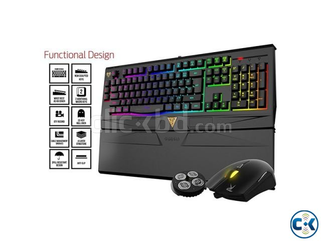Gamdias GKC6011 ARES 7 Color Backlit RGB Membrane Gaming Com | ClickBD large image 0