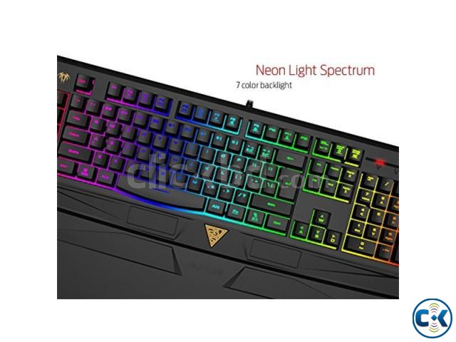 Gamdias GKC6011 ARES 7 Color Backlit RGB Membrane Gaming Com | ClickBD large image 2