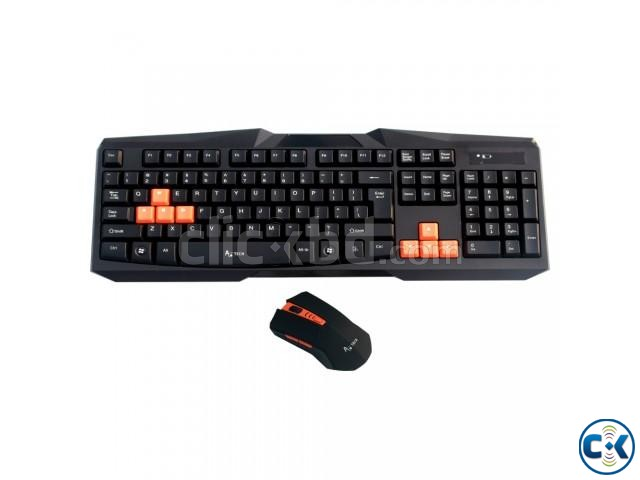 A.Tech KB-015 Wireless Mouse Keyboard Combo | ClickBD large image 0
