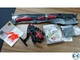Portable Fishing Rod Reel Line Hook Set