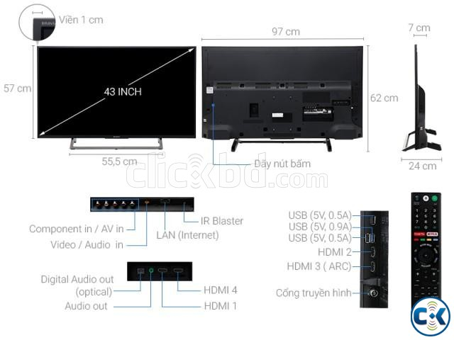 Sony 43 X7500E 4K Android TV | ClickBD large image 2