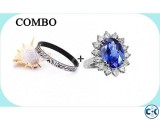 Combo of Stainless Steel Bracelet Princess Diana Finger Ri