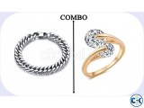 Pack of Stainless Steel Bracelet Finger Ring