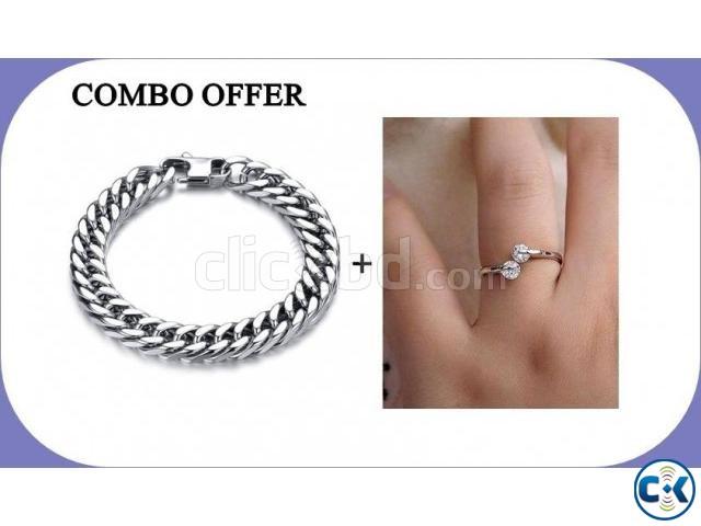 Pack of Stainless Steel Bracelet Finger Ring | ClickBD large image 0