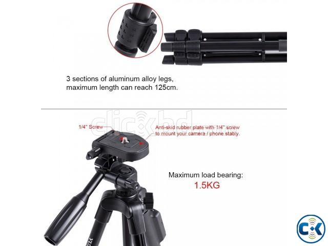 YUNTENG VCT-5208 Tripod With Remote Control | ClickBD large image 4