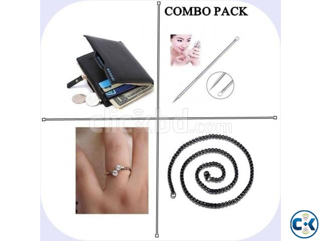 4 Pack of Combo Lather Wallet Blackhead Comedone Remover  | ClickBD large image 0
