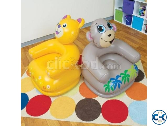 Catoon air Chair with pumper Kids chair | ClickBD large image 3