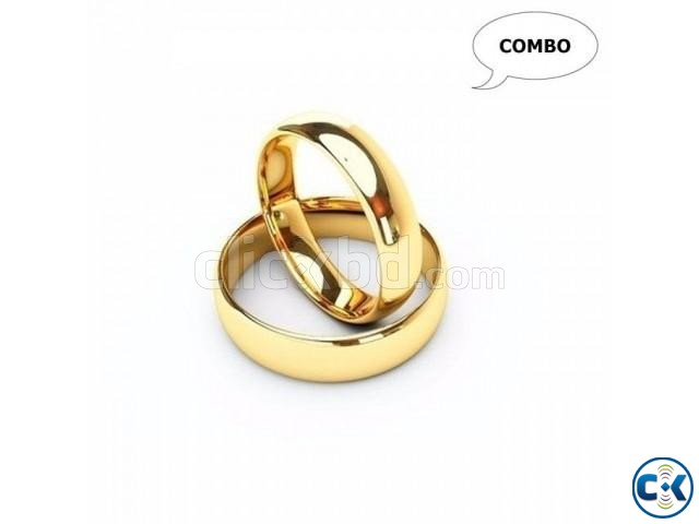 Pack of 2 Couple Gold Plated Finger Ring | ClickBD large image 0