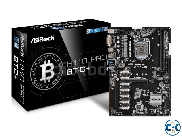 ASRock H110 Pro BTC Mining Motherboard with 13 GPU Slot | ClickBD large image 0