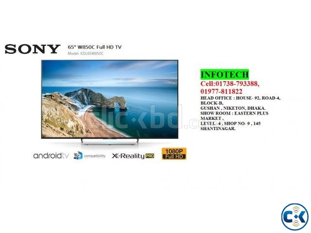 SONY BRAVIA W850C 65INCH 3D SMART LED TV | ClickBD large image 0