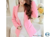 Women Single Button Elegant Blazer Shoppers Club