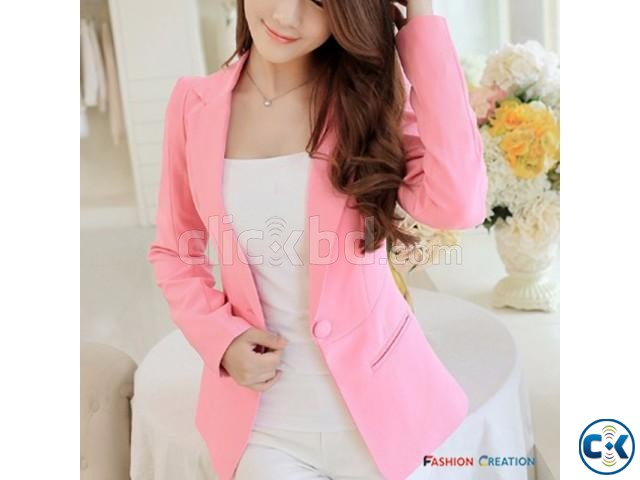 Women Single Button Elegant Blazer Shoppers Club | ClickBD large image 0