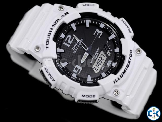 Original Casio Tough Solar Dual Time Watch AQ-S810WC-7AV | ClickBD large image 0