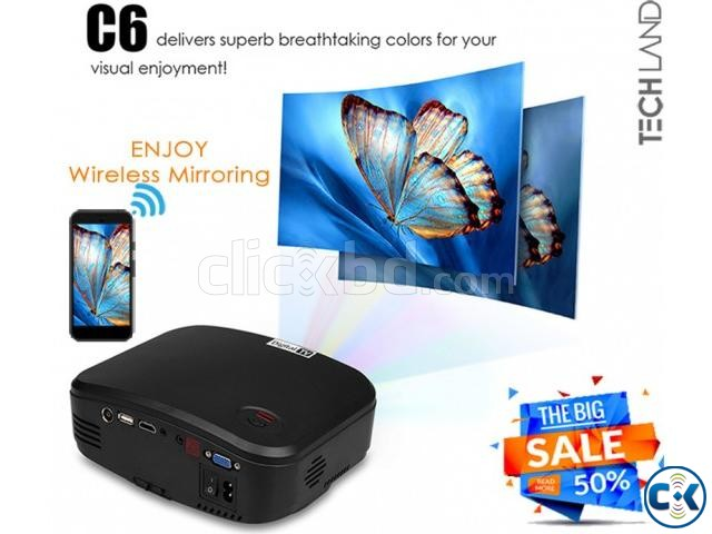 CHEERLUX C6 WiFi TV Projector 50 OFF | ClickBD large image 0