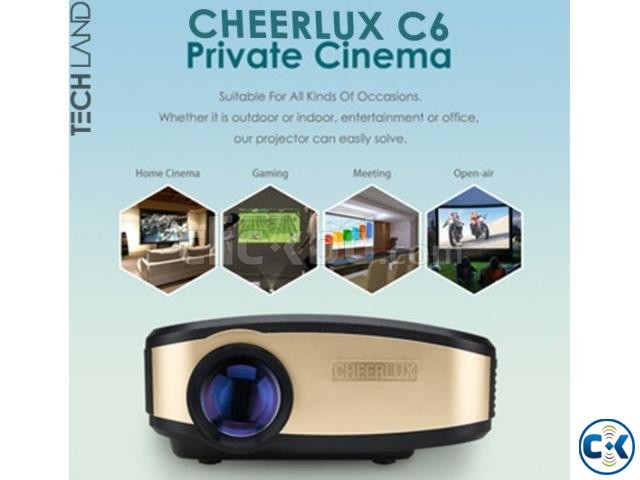Cheerlux C6 70-120 HD TV Projector | ClickBD large image 0