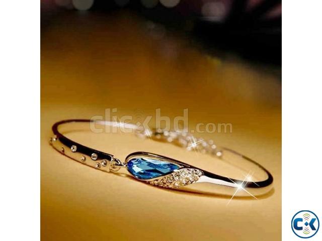 Stone Setting Bracelet - Silver | ClickBD large image 0