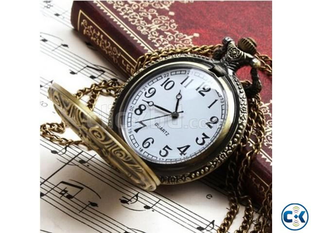 Exclusive Vincent Pocket Watch with Gift Box | ClickBD large image 0
