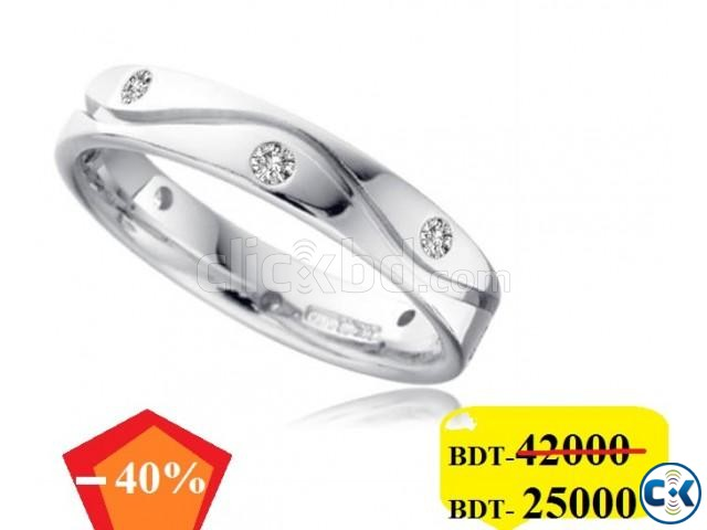 Diamond with White Gold Gens Ring 40 OFF | ClickBD large image 0