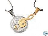You Couple Pendant Silver Golden