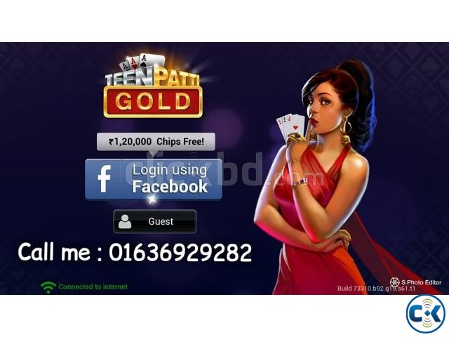 Teen patti gold chips 70 tk par Cr any time | ClickBD large image 0