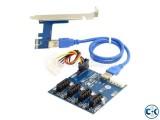 PCI-E 1X Expansion Kit FOR GPU MINING
