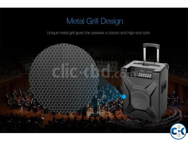 F D T2 Bluetooth 4.2 FM Crystal Sound Trolley Speaker | ClickBD large image 3
