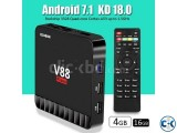 Small image 1 of 5 for Scishion V88 Piano 4GB 16GB Android 7.1 TV Box | ClickBD